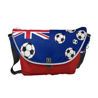 Balones de fútbol australianos de la bandera bolsas de mensajeria