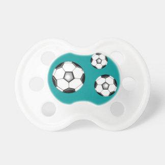 balones de fútbol chupete