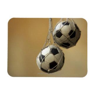 Balones de fútbol colgantes imanes