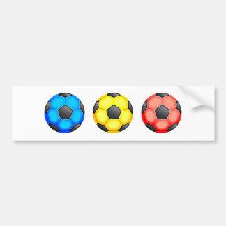 Balones de fútbol coloridos pegatina para auto