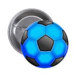 Balones de fútbol coloridos pins