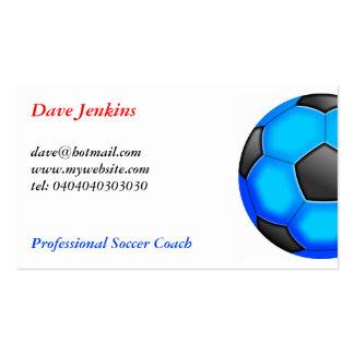Balones de fútbol coloridos plantillas de tarjeta de negocio