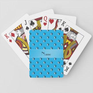 Balones de fútbol conocidos personalizados de azul baraja de cartas