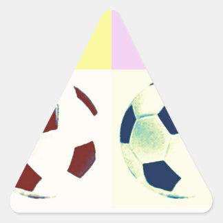 Balones de fútbol de arte pop pegatina triangular