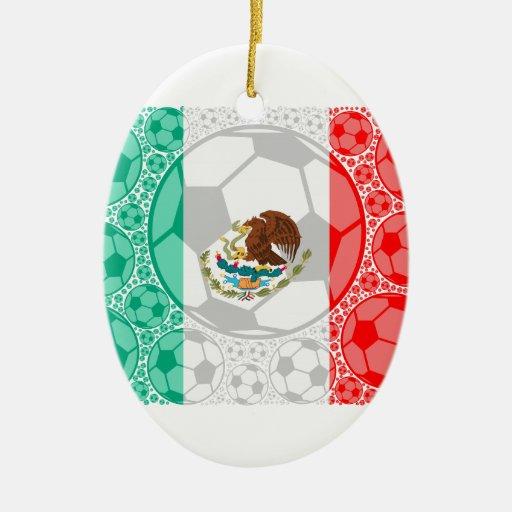Balones de fútbol de México Adorno Navideño Ovalado De Cerámica