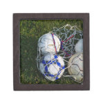 Balones de fútbol en red cajas de joyas de calidad