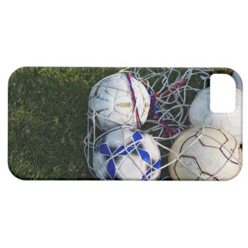 Balones de fútbol en red iPhone 5 fundas