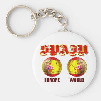 Balones de fútbol españoles de la bandera del mund llavero redondo tipo pin