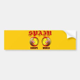 Balones de fútbol españoles de la bandera del mund pegatina para auto