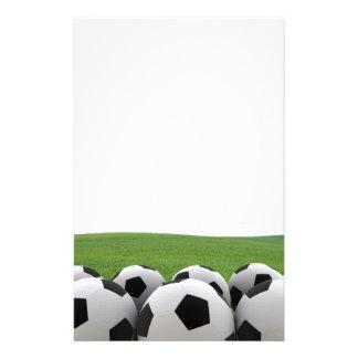 Balones de fútbol inmóviles personalized stationery