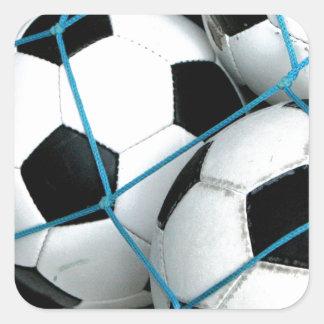 Balones de fútbol calcomanía cuadradas