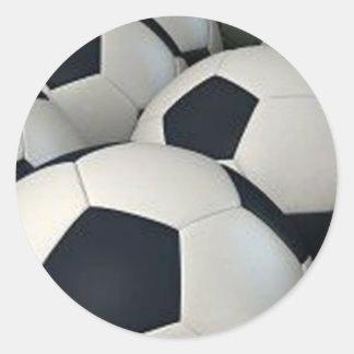 Balones de fútbol pegatinas redondas
