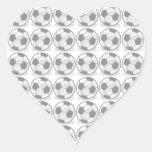 Balones de fútbol calcomania de corazon personalizadas