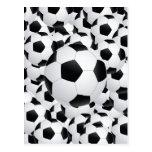 balones de fútbol postales