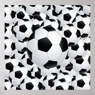 balones de fútbol póster