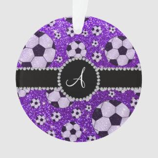 Balones de fútbol púrpuras del añil del brillo del
