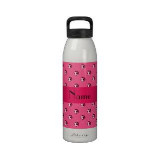 Balones de fútbol rosados conocidos personalizados botella de agua reutilizable