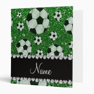"""Balones de fútbol verdes conocidos personalizados carpeta 1"""""""
