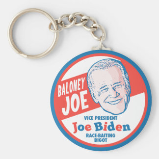 Baloney Joe Biden Basic Round Button Keychain