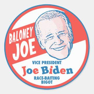 Baloney Joe Biden Classic Round Sticker