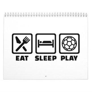 Balonmano de Eat Sleep Play Calendario