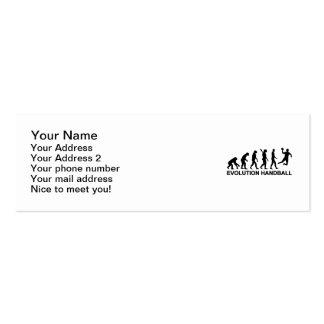 Balonmano de la evolución plantillas de tarjetas de visita