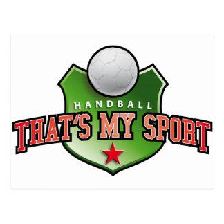 Balonmano - that's my sport tarjeta postal