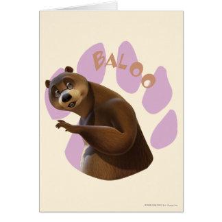 Baloo 1 greeting card