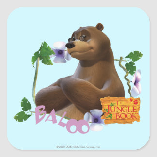 Baloo 2 square sticker