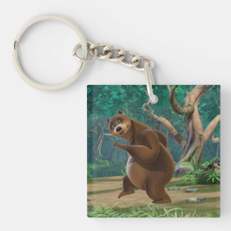 Baloo 3 Double-Sided square acrylic keychain