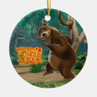 Baloo 3 Double-Sided ceramic round christmas ornament