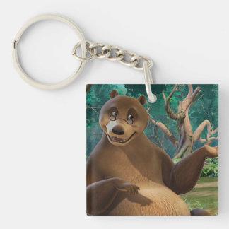 Baloo 4 Double-Sided square acrylic keychain