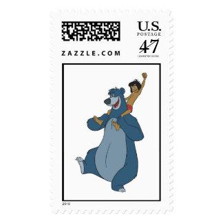 Baloo and Mowgli Disney Stamp