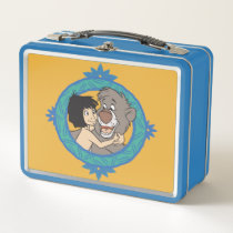 Baloo and Mowgli in a Frame Disney Metal Lunch Box