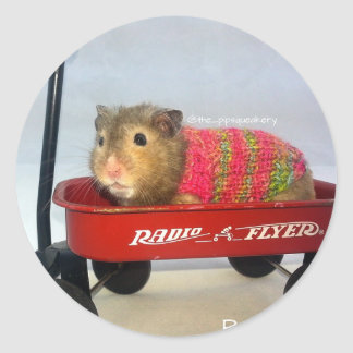 Baloo in his Red Wagon Classic Round Sticker