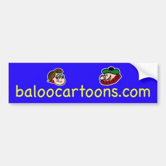 baloocartoons baloocartoons.com del baloo pegatina de parachoque