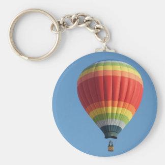 Baloon del aire caliente del arco iris llavero