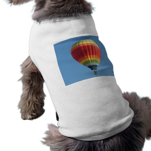 Baloon del aire caliente del arco iris camiseta de perrito