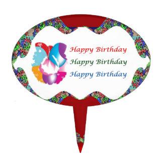Baloon Star Cutout  HappyBirthday Birthday  Lips Cake Topper