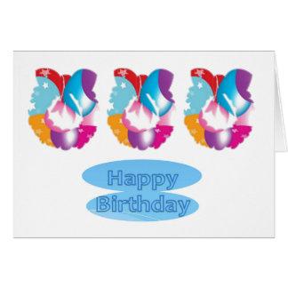 Baloons protagoniza el texto de n HappyBirthday Tarjetas