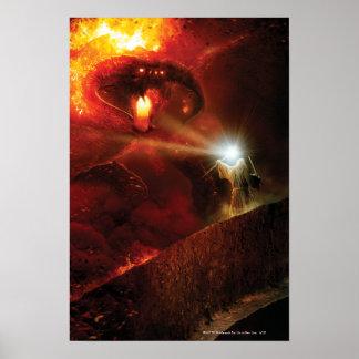Balrog contra Gandalf Poster