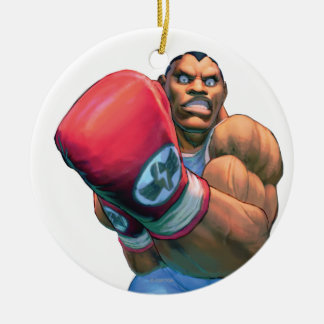 Balrog Grin Double-Sided Ceramic Round Christmas Ornament