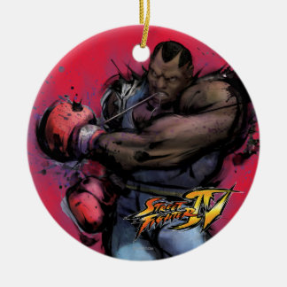 Balrog Tying on Glove Double-Sided Ceramic Round Christmas Ornament