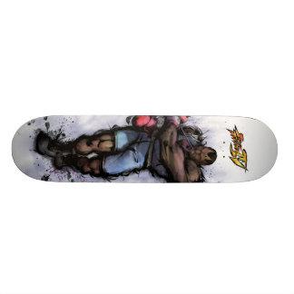 Balrog Tying on Glove Skateboard Deck