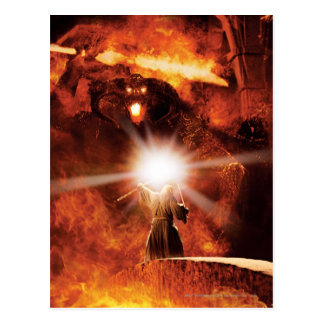 Balrog Versus Gandalf Postcard