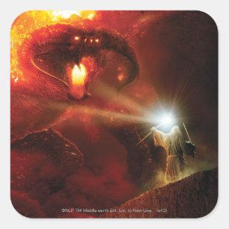 Balrog Versus Gandalf Square Sticker