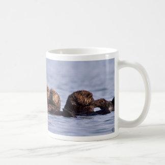 Balsa de la nutria de mar tazas de café