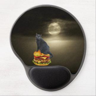 Balsa del cheeseburger en un mar de la niebla alfombrillas con gel