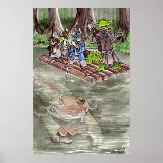 Balsa del pantano póster