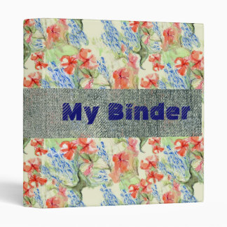 Balsam and Lobelia flowers 3 Ring Binder